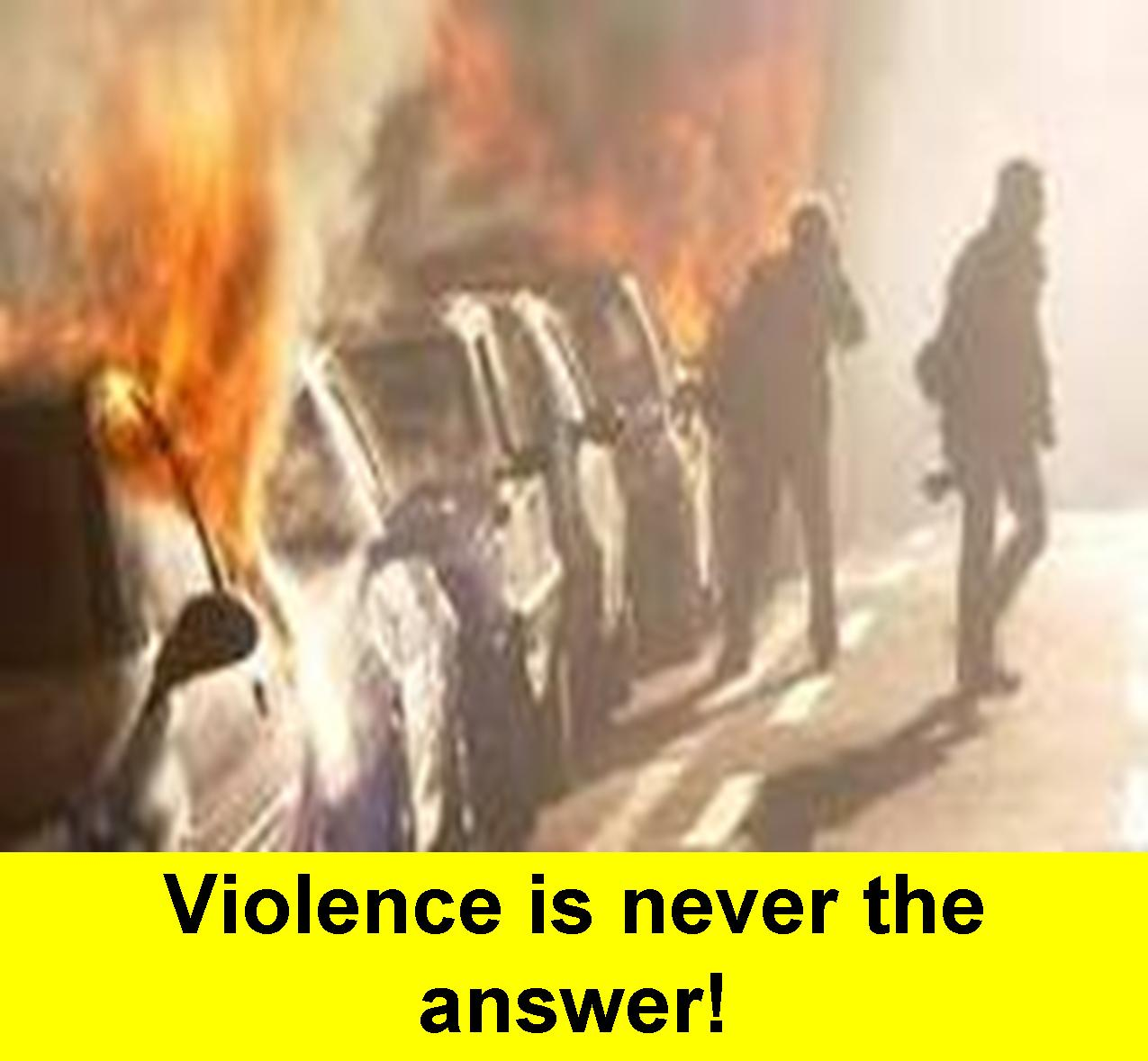 ways to solve problems without violence According to unesco, violence begins from the mind it must, therefore, be uprooted from the mind itself this goes directly to the root cause of terrorism.